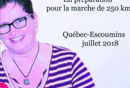 Québec-Les Escoumins – Jeanne Bouchard marchera pour une bonne cause
