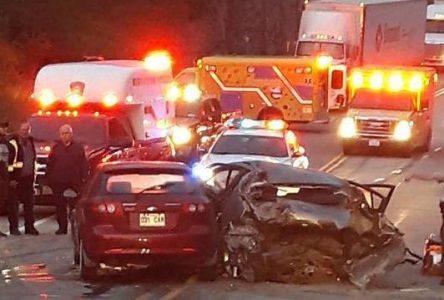 Accident à Baie Laval