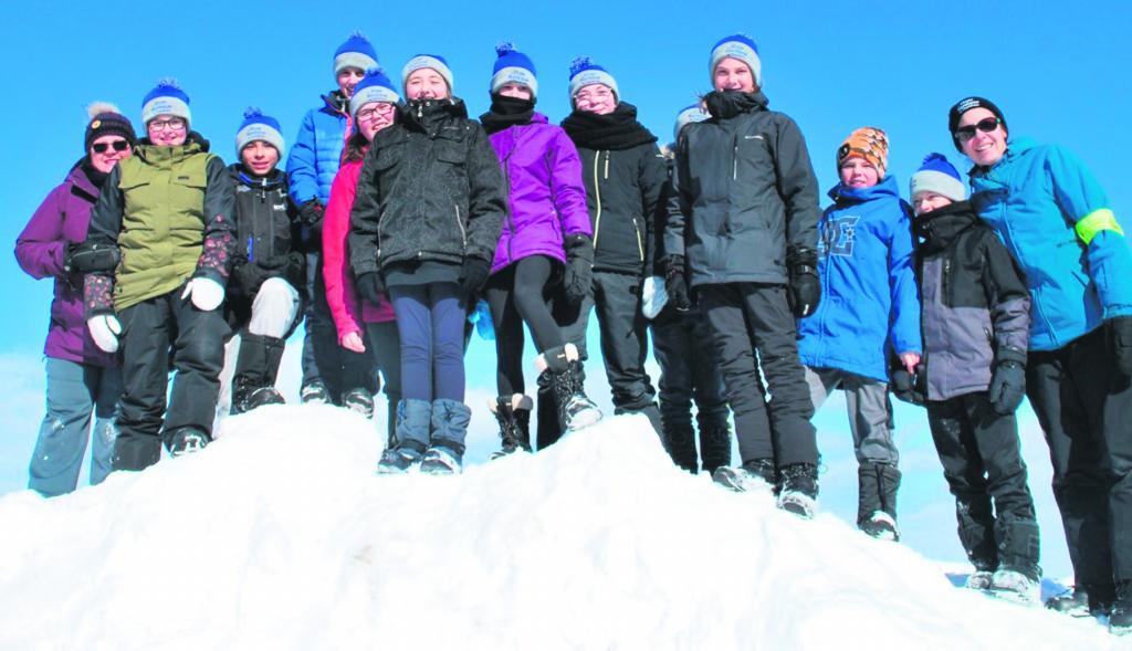 Onze élèves de Tadoussac y ont participé – Une autre grande réussitepour la Virée nordique
