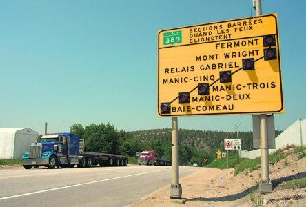 La route 389 conserve sa place au palmarès des pires routes du Québec