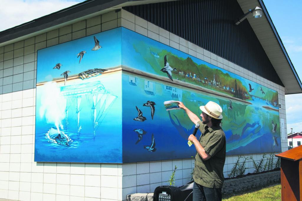 Portneuf-sur-Mer a désormais sa fresque murale