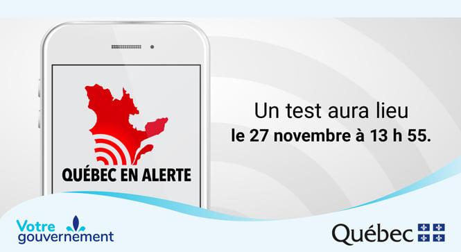 Le Québec aura une alerte!