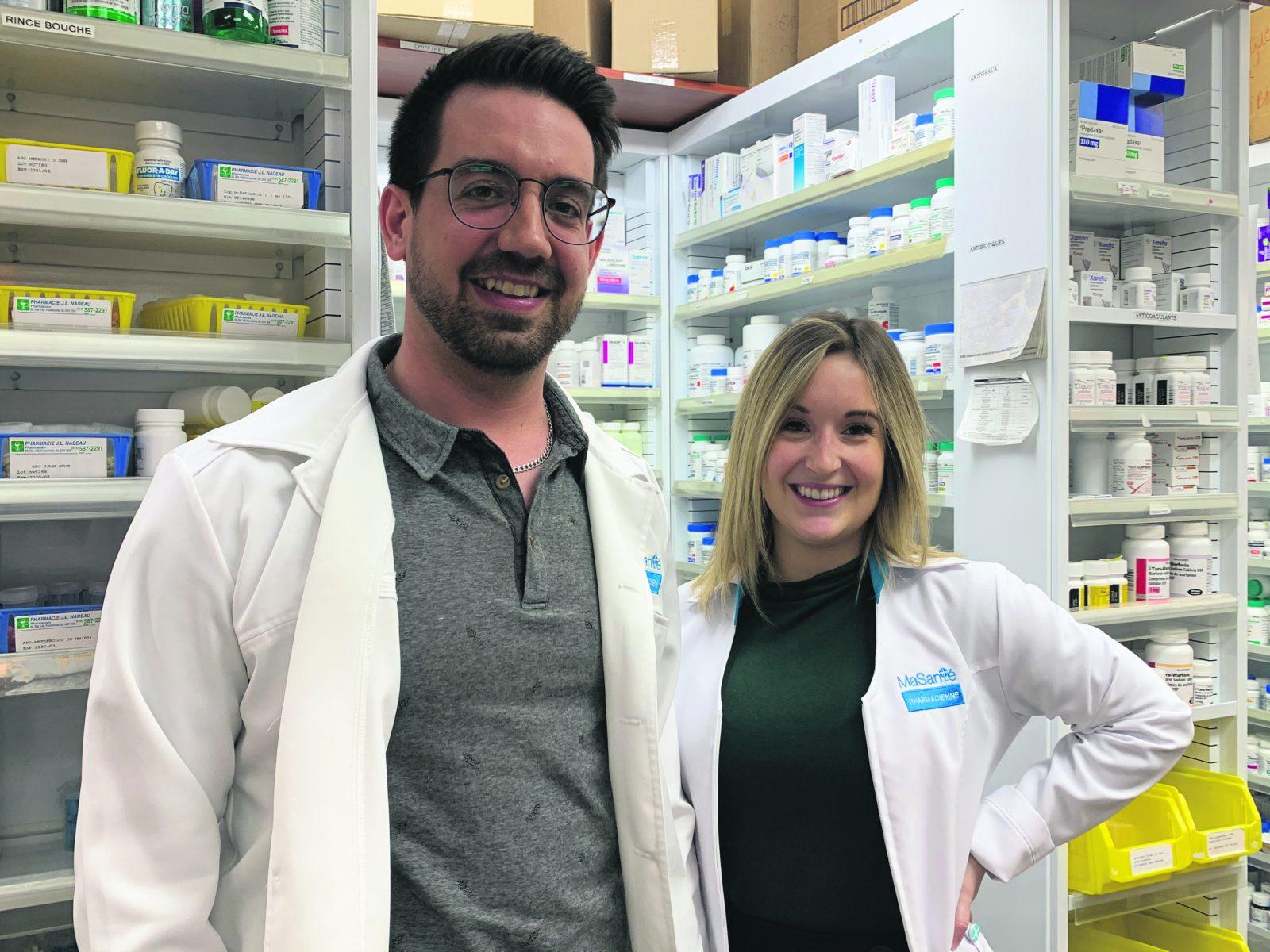 Yan Deschênes et Alexandra Beaulieu : des pharmaciens fidèles au poste