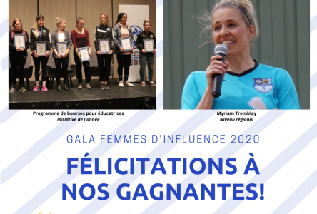 Gala femme d'influence en sport : Myriam Tremblay remporte les grands honneurs