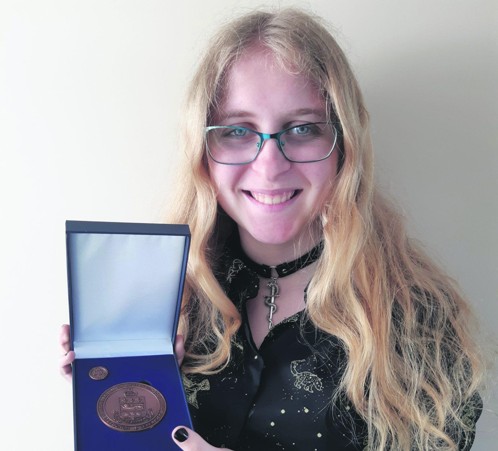 Kelly Bouchard, médaillée du lieutenant-gouverneur