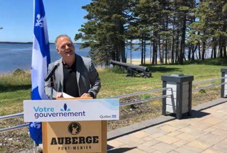 Le ministre Julien annonce une aide de 925 000$ pour l'industrie touristique nord-côtière