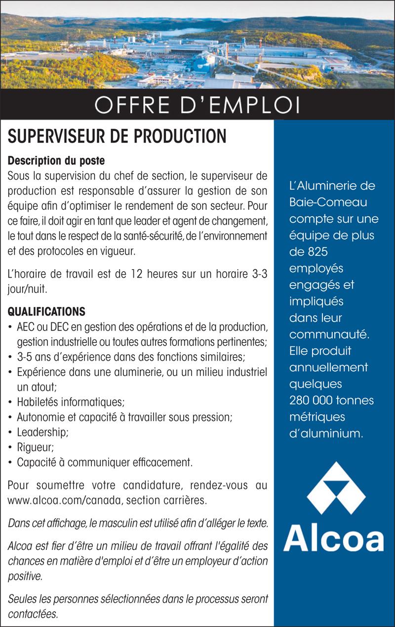 Superviseur de production