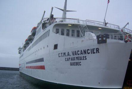 (Mise à jour) Le CTMA Vacancier vient à la rescousse à la traverse Matane-Côte-Nord