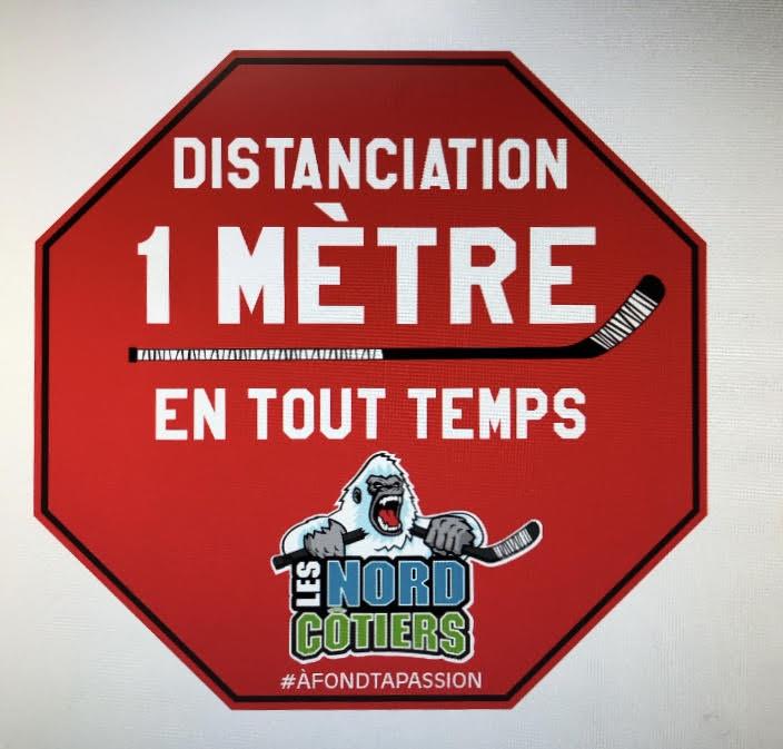 Les équipes des Nord-Côtiers s'affichent pour la distanciation d'un mètre