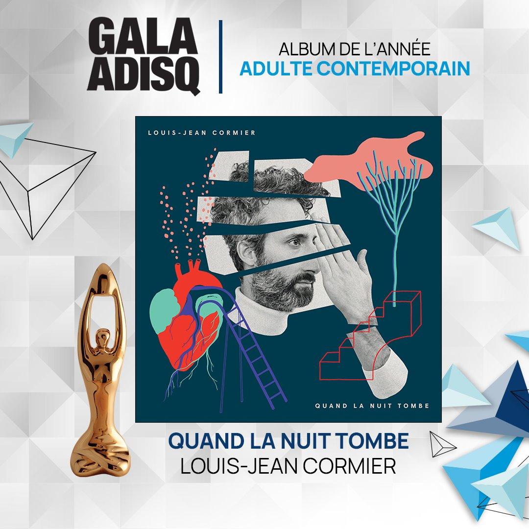 42e Gala de l'ADISQ : Louis-Jean Cormier gagne deux Félix!
